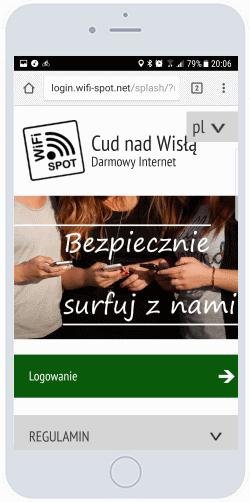 Strona logowania HotSpota WiFi
